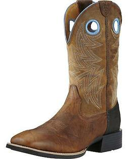 Ariat Men's Bar Top Heritage Cowhorse Western Boot - Square