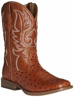 Roper Men's Basic Square Toe Western Boot Faux Leather Cowbo