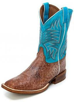JUSTIN BOOTS Men's CPX Josiah Ostrich Exotic Western Boots
