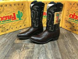 Men's Laredo genuine water snake western boot. Tobacco
