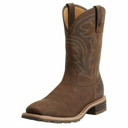 MEN'S ARIAT HYBRID RANCHER WESTERN BOOT SQUARE TOE WATERPROO