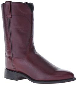 Old West Men's Leather Roper Cowboy Boot Black Cherry 12 EE