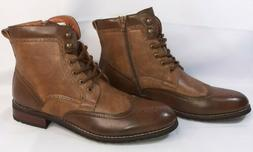 Men's Perforated Brogue Casual High-Top Wing tip Western Lac