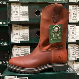MEN'S PUREPECHA WORK BOOTS GENUINE LEATHER PULL ON COLOR SAF
