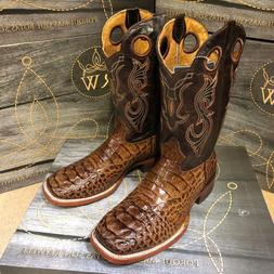 men s rodeo cowboy boots alligator print
