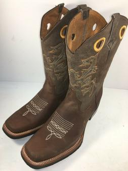 MEN'S RODEO COWBOY BOOTS GENUINE LEATHER WESTERN SQUARE BOOT