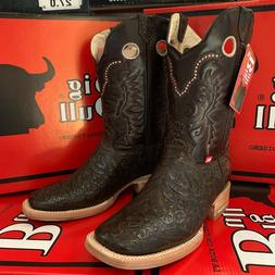 MEN'S RODEO COWBOY BOOTS HAND TOOLED LEATHER WESTERN SQUARE
