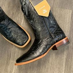 MEN'S RODEO COWBOY BOOTS REYWELT BRAND HAND TOOLED LEATHER W