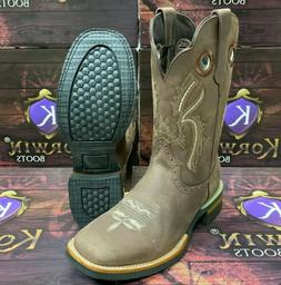 Men's Rodeo Western Boots Cowboy Fine Genuine Leather Square