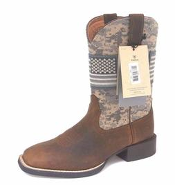 MEN'S ARIAT SPORT PATRIOT SAGE CAMO WESTERN BOOTS 10023359