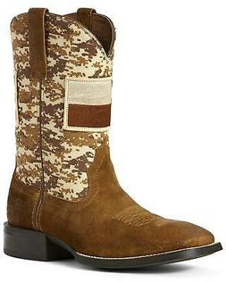 Ariat Men's Sport Patriot Texas Flag Western Boot - Wide Squ