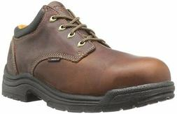 Timberland PRO Men's Titan Safety Toe Oxford,Haystack Brown,