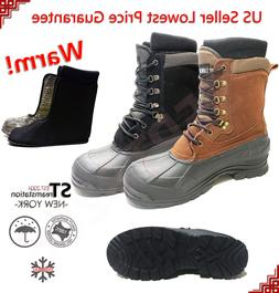 LM Men's Winter Snow Boots Shoes Work Boots Insulated Waterp