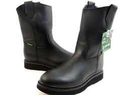 men s work boots genuine leather black