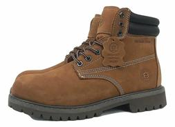 Jacata Men's Work Boots Genuine Leather Water Resistant Whea