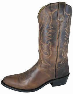 Smoky Mountain Boots Mens Denver Brown Leather Basic Western