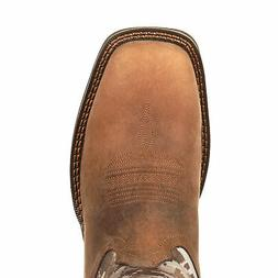 Durango Mens Dusty/Camo Leather Pull-On Rebel Cowboy Boots
