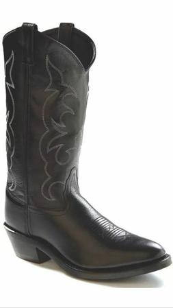Mens Leather Black Western Boots By Old West TBM3010 NIB