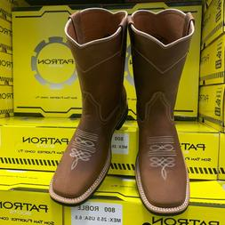 MENS RODEO COWBOY BOOTS TAN LEATHER WESTERN TYPE FOR WORK BO
