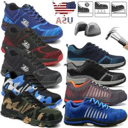 Mens Safety Work Shoes Steel Toe Boots Indestructible Bullet