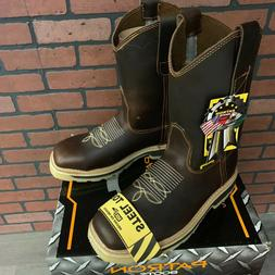 mens steel toe work boots squared western