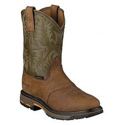 mens workhog western work boot aged bark