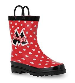 Disney Minnie Mouse Girl's Red Rain Boots