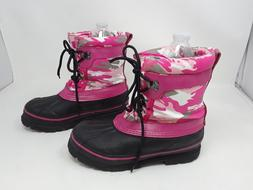 New!! Girl's Western Chief insulated/lined pink camo rain/sn