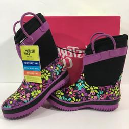 NEW Western Chief Girls Insulated Waterproof Rubber Boots Si