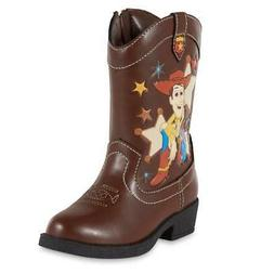 NEW KIDS TODDLER BOYS DISNEY TOY STORY BOOTS BROWN SIZE 9 8
