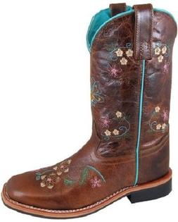 NEW! Ladies Smoky Mountain Boots Western Cowboy Leather Brow