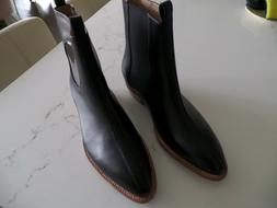 new latest western style ankle black leather