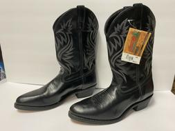 New Laredo London 4210 Men's Black Leather Western Cowboy Bo