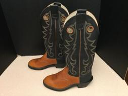 "New! Mens Durango 15"" Golden Tan/Black Leather Western/Cow"