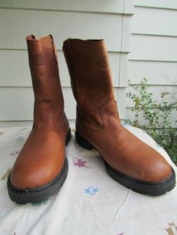 NEW MENS DICKIES BRAND 13 D BROWN WORK AND WESTERN BOOTS--GO