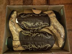 NEW LAREDO Mens Faux Leather Snake Skin Cowboy Boots Size 11