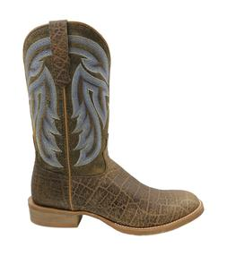 New Men's Twisted X Rancher Round Toe Saddle Elephant Prin