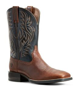 NEW Mens ARIAT Sport Wide Square Toe Brown Western Cowboy Bo