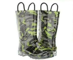 new scatter camo light up rain boots
