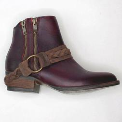 NEW Very Volatile Yokel Western Harness Zippered Ankle Boots