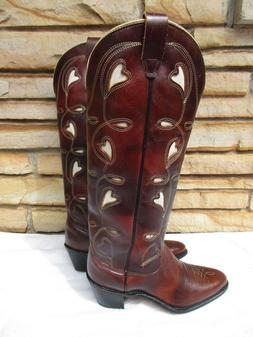 NEW Without Box VTG Wrangler Western Boots Sz 7.5 M Heart In