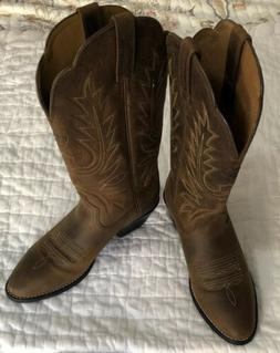 NEW Ariat Womens Heritage R Toe Cowboy Western Boot Brown 10