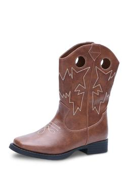 NEW Youth Boys Wonder Nation Faux Leather Brown Western Cowb