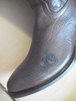 NFL MIAMI DOLPHINS Cowboy Western Leather Boots Men's Size 1