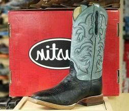 "*NIB* Men's Justin Boots 8290 - 13"" USA Made Smooth Ostrich"
