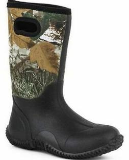 Roper Outdoor Boots Boys Camo Barn Boot Black 09-119-1136-05
