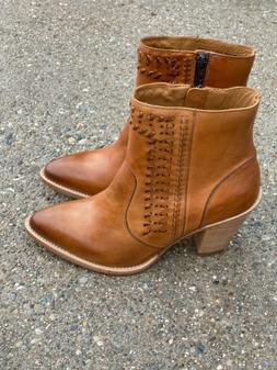 piper cowboy boots ankle golden tan size
