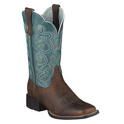 Ariat Womens Quickdraw Performance 8.5 B Brown Oiled Rowdy