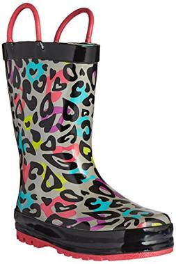 Toddler Girl's Western Chief 'Groovy Leopard' Rain Boot, Siz