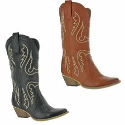 Very Volatile Raspy Women's Vegan Leather Mid-Calf Western C